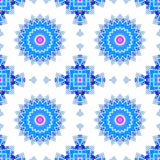 Geometrical ornamental textile pattern Stock Images