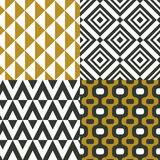 Geometrical ornaments. Seamless   patterns. Vector set of backgrounds. Geometrical ornaments. Seamless   patterns. Vector set of backgrounds with  rhombus Stock Image