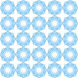Geometrical paattern seamless background. Geometrical pattern seamless blue light star pattern background Royalty Free Stock Photo