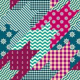 Geometrical patchwork pattern Royalty Free Stock Photography