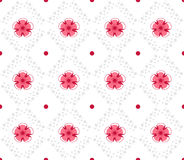 Geometrical pattern with abstract flowers Royalty Free Stock Photo