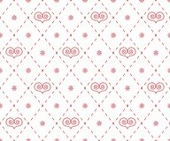 Geometrical pattern with abstract hearts Royalty Free Stock Photo