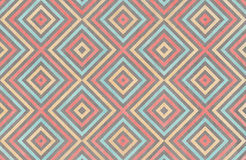 Geometrical pattern in coral, blue, beige and grey colors. Stock Images
