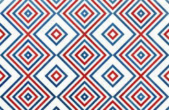 Geometrical pattern in dark blue and red colors. For fashion textile, cloth, backgrounds stock illustration