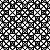 Black and white seamless geomatrical abstact pattern,digonal lines formed rhombus and star design in it. royalty free illustration