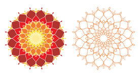 Geometrical pattern -part 1. Illustration of geaometrical pattern in warm color Stock Photo