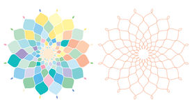 Geometrical pattern -part 2. Illustration of geaometrical pattern in pastel color Stock Image