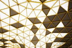 Geometrical Pattern of the pavilion in the Perdana Botanical Park, Kuala Lumpur stock photo
