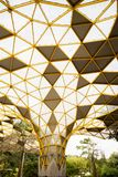 Geometrical Pattern of the pavilion in the Perdana Botanical Park, Kuala Lumpur stock photography