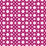 Geometrical pattern in pink and white Stock Photography