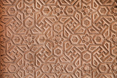 Geometrical pattern on Red Fort. Agra, India Royalty Free Stock Photography