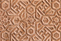 Geometrical pattern on Red Fort. Agra, India Stock Photo