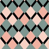 Geometrical pattern of rhombuses stock illustration