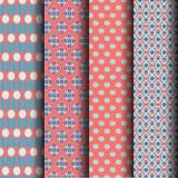 Geometrical pattern. Set Geometric pattern in blue and orange Royalty Free Stock Image