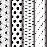 Geometrical pattern. Set Geometric pattern in blue and orange Stock Photo