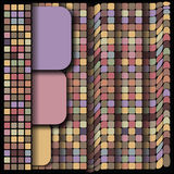 Geometrical pattern, square set, color mix tile Royalty Free Stock Images