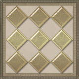 Geometrical pattern tile design background glass effect Royalty Free Stock Images