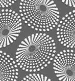 Geometrical pattern with white dotted  concentric ovals Stock Photography