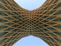 Geometrical patterns in concrete architecture of Tehran Royalty Free Stock Photo