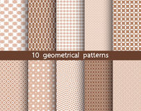 10 geometrical patterns, Pattern Swatches, vector. Texture can be used for wallpaper, pattern fills, web page, background royalty free illustration
