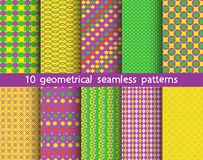 10 geometrical patterns, Pattern Swatches, vector. Texture can be used for wallpaper, pattern fills, web page, background vector illustration