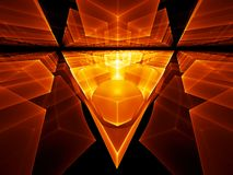 Geometrical perspective. Fiery geometrical perspective stretching off to infinity Royalty Free Stock Photos