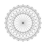 Geometrical postać tworząca od Świętych geometria elementów ilustracji