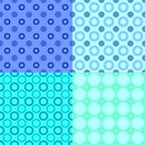 Repeating pattern set - vector circle background designs. Geometrical repeating pattern set - vector circle background designs stock illustration