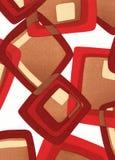 Geometrical retro pattern Stock Images