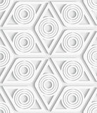 Geometrical rhombus seamless pattern cut out Stock Image