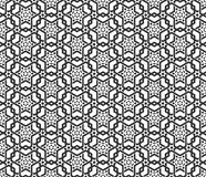 Geometrical seamless background. Arabic black and white ornament Stock Photo