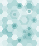 Geometrical. Seamless background from blue hexagons. Vector illustration Stock Images