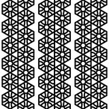 Geometrical seamless black and white pattern with hexagons. Stock Photos