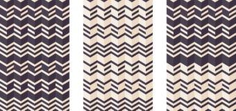 Geometrical seamless flat pattern, 3d illusion. Royalty Free Stock Photos
