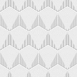 Geometrical Seamless hexagon lines on white background. Available in high-resolution jpeg in several sizes & editable eps file, can be used for wallpaper Stock Photography