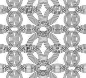 Geometrical seamless pattern. With intertwining circles Royalty Free Stock Photos