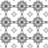 Geometrical seamless pattern. With intertwining black circle Royalty Free Stock Photography