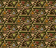 Geometrical seamless pattern consisting of triangular elements. Useful as design element for texture and artistic compositions Stock Photography