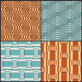 Geometrical seamless pattern with 3d effect Royalty Free Stock Photos