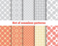 Geometrical seamless pattern. Gray, red, yellow Royalty Free Stock Photography