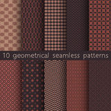 10 geometrical seamless patterns, Pattern Swatches, vector. Royalty Free Stock Image