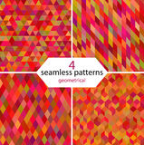 Geometrical seamless patterns Stock Images