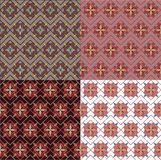 Geometrical seamless vintage set patterns Stock Photos
