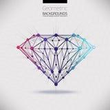 The geometrical shape of the diamond lattice molecular Stock Photography