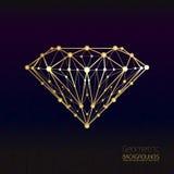 Geometrical shape of the gold diamond lattice of molecular Royalty Free Stock Photo