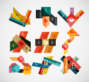 Geometrical shaped infographic concept set Stock Images