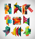 Geometrical shaped infographic concept set Royalty Free Stock Photos