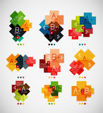 Geometrical shaped infographic option banners Royalty Free Stock Photography
