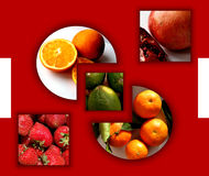 Geometrical shapes full of fruits Royalty Free Stock Photos
