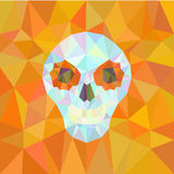 Geometrical shapes on orange background. Stock Photography